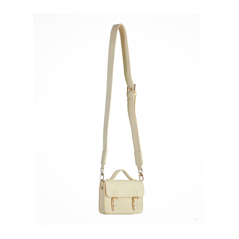 Small Double Buckle Satchel Crossbody Bag