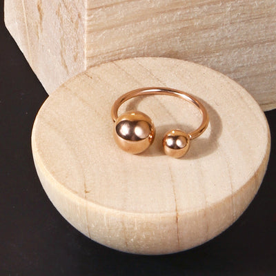 18K Gold Plated Metal Ball/Open Ring - AHED Project