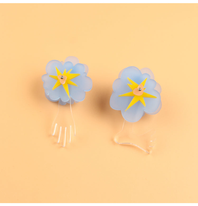 Walking Clouds Cartoon Stud Earrings