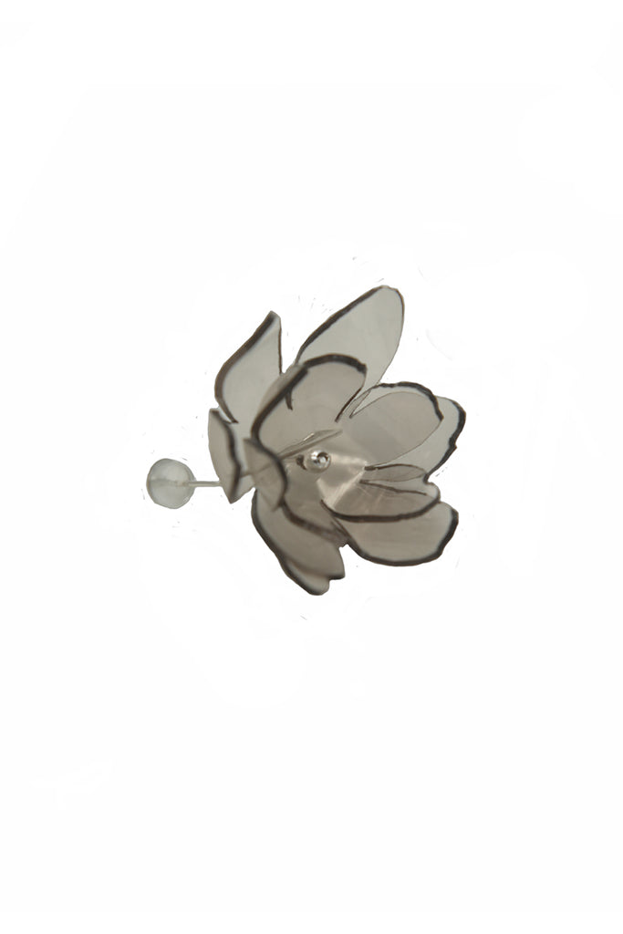Smoky Bloom Series - Ethereal Acrylic Flower Stud Earring