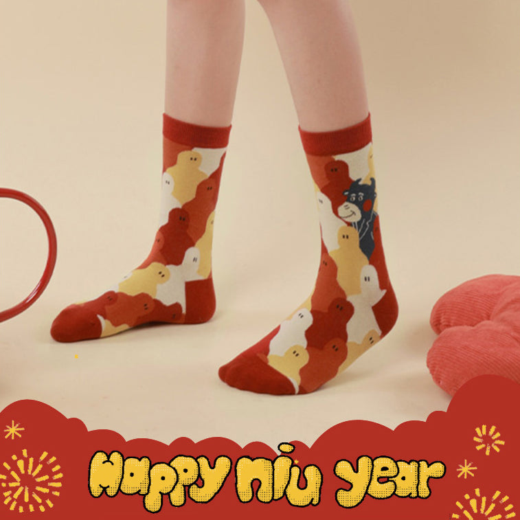 Limited Edition - Year of Ox Crew Socks - 3 Pairs
