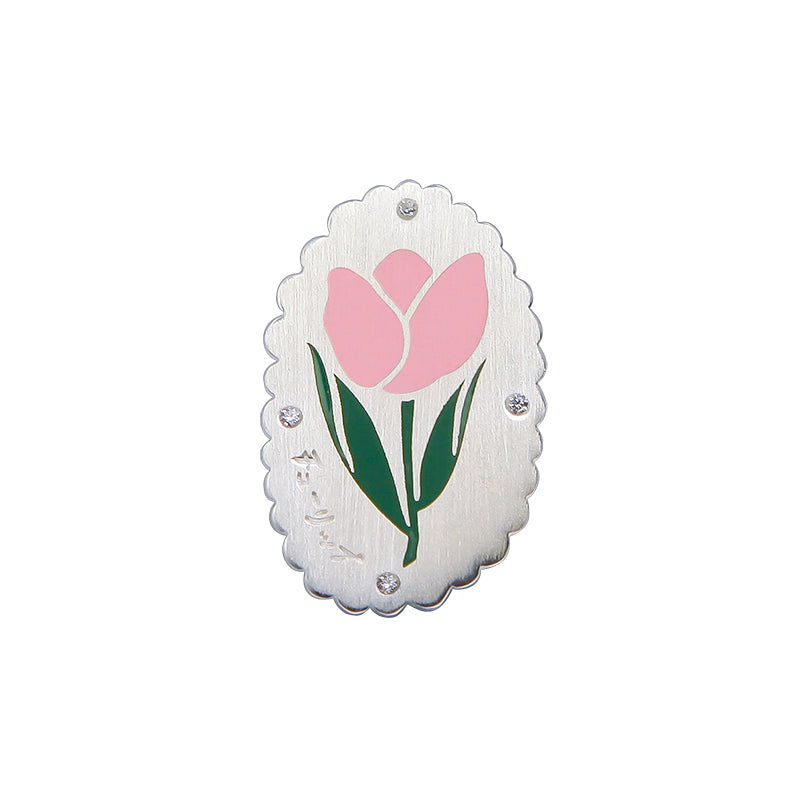 Teenage Dream Sterling Silver Tulip Brooch Pin