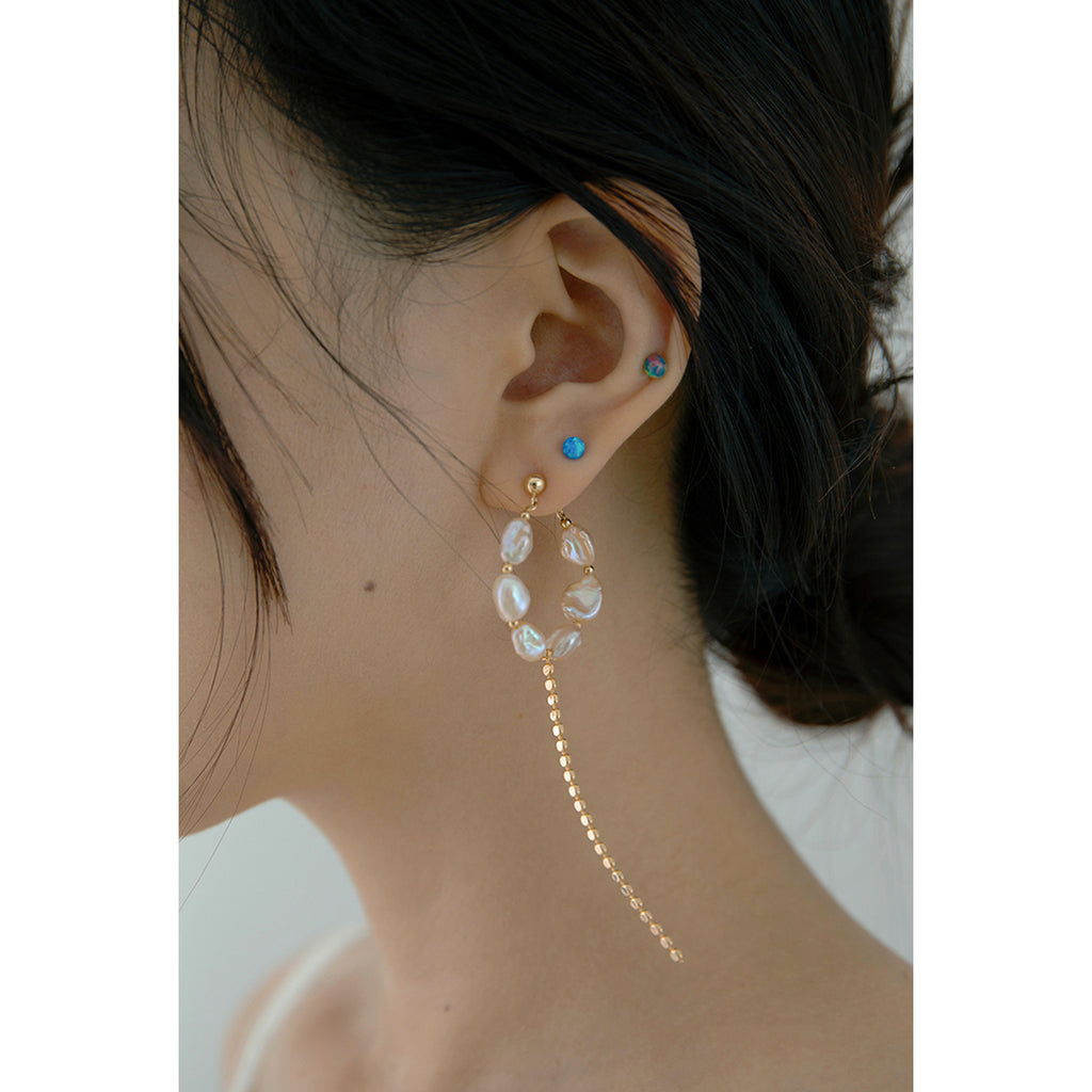 Baroque Pearls Hoop Drop Stud Earring(s)