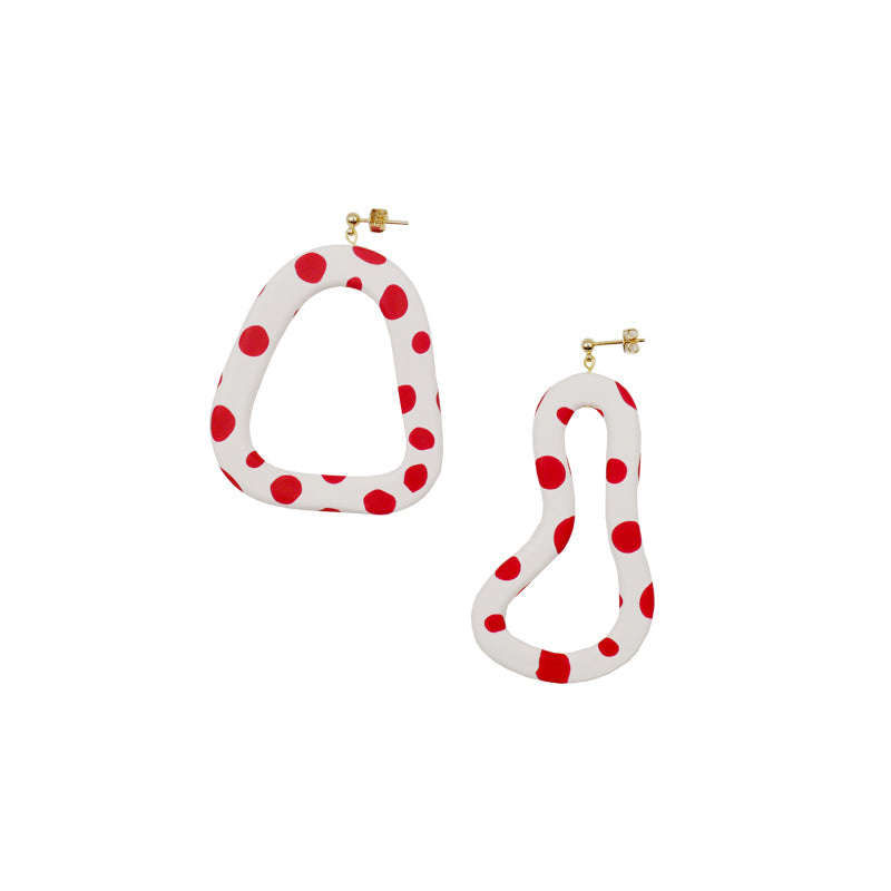 Irregular Polka Dot Hoop Earrings - AHED Project