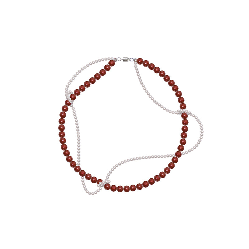 PROMISE Series -Interlaced Swarovski Pearls Necklace