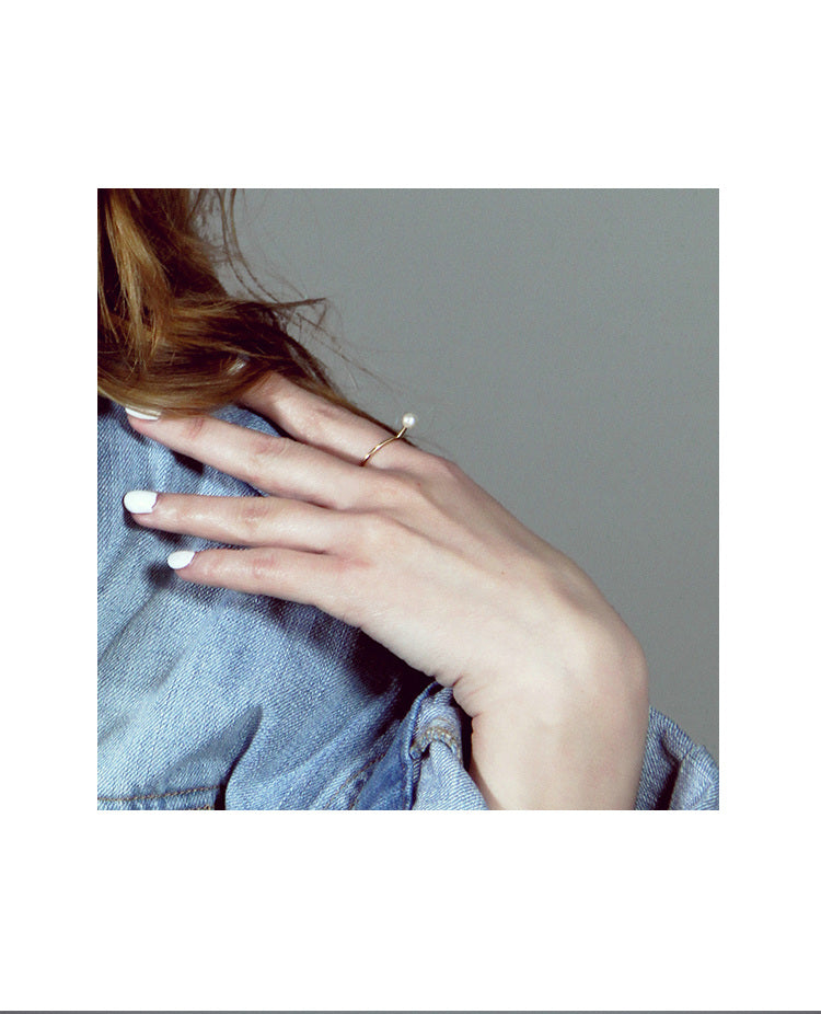 Aqua Luster Series - 14K Gold Filled Pearl Ring - AHED Project