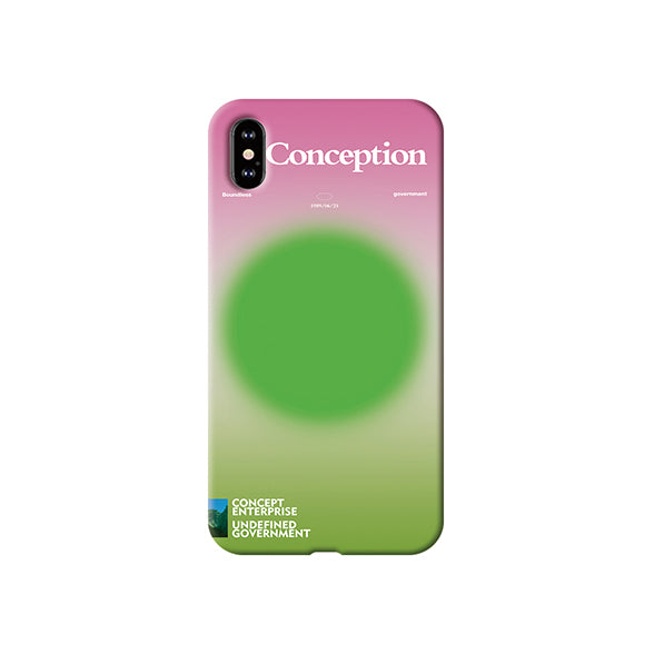 Conception Lab Original - MUTED GREEN SPHERE [Shockproof Soft TPU Phone Case]