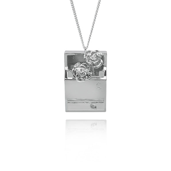 Rose In Cigarette Case Necklace