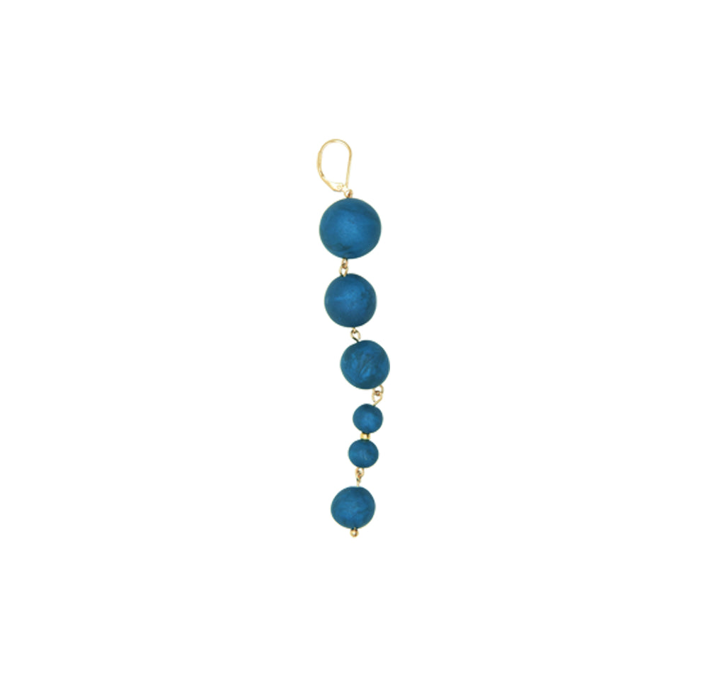 Natural Melody Series-Glittery Clay Beads Thread Dangle Earrings - AHED Project