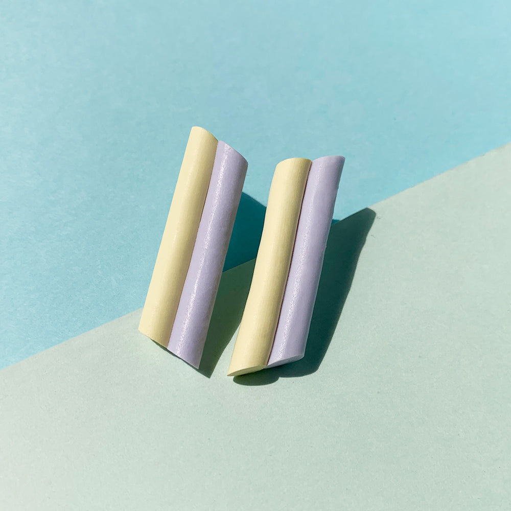 Pastel Palette Angle Cut Stud Earrings