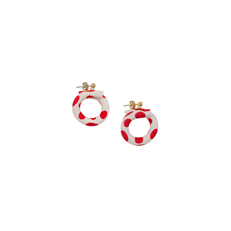 Lovely Polka Dot Hoop Earrings (Quick to ship) - AHED Project