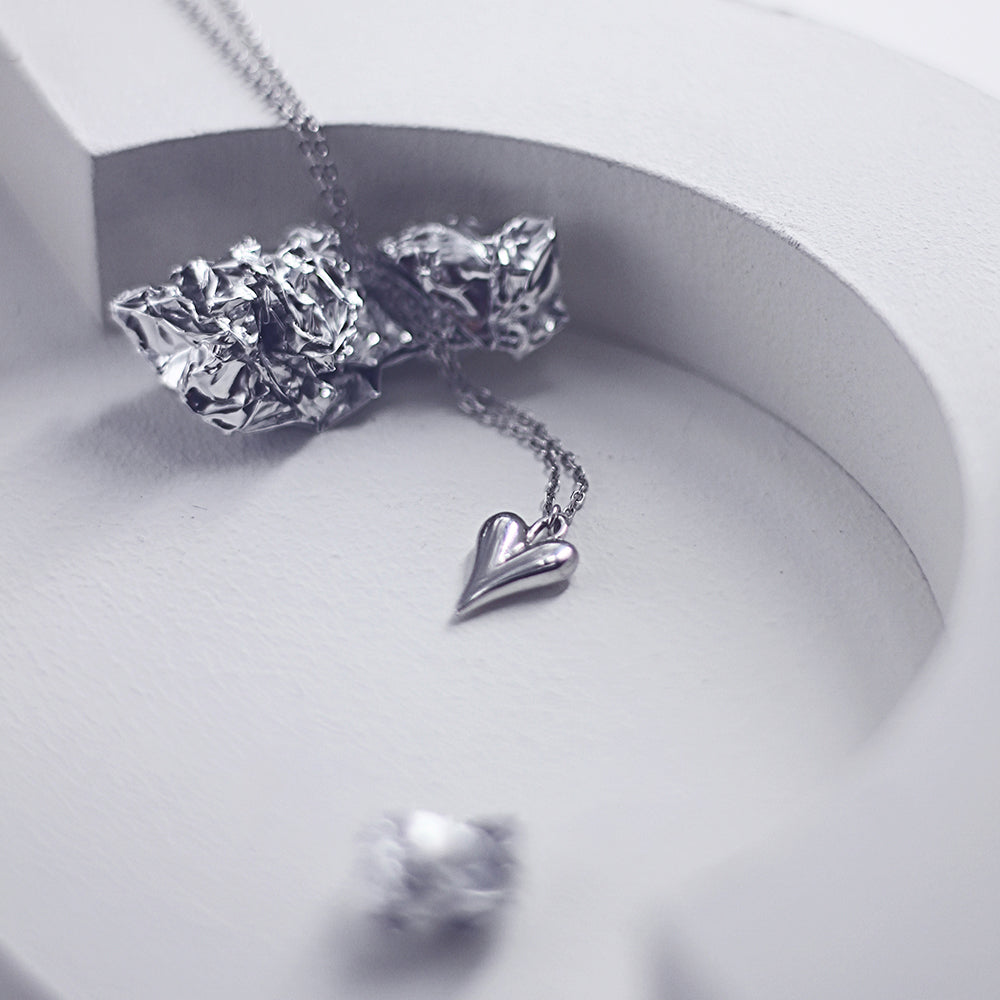 Bella Heart Dainty Necklace - s925 Sterling Silver