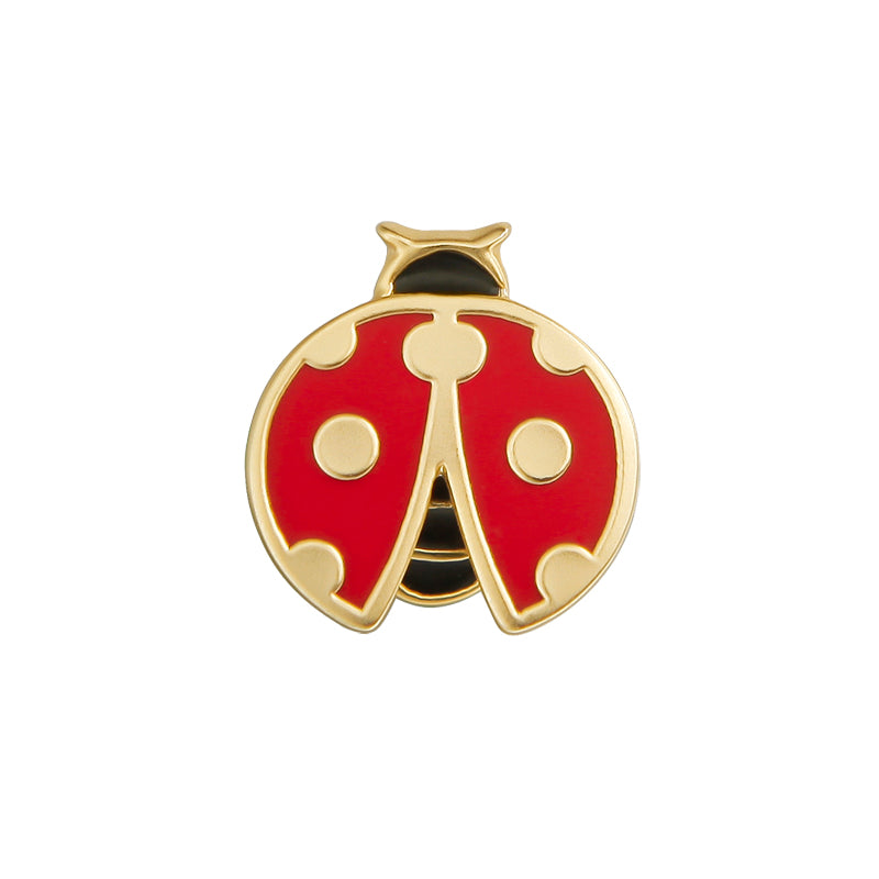 Gold Plated Ladybug Brooch Pin