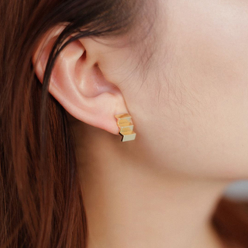 Architecture Series - Staircase Stud Earrings - AHED Project