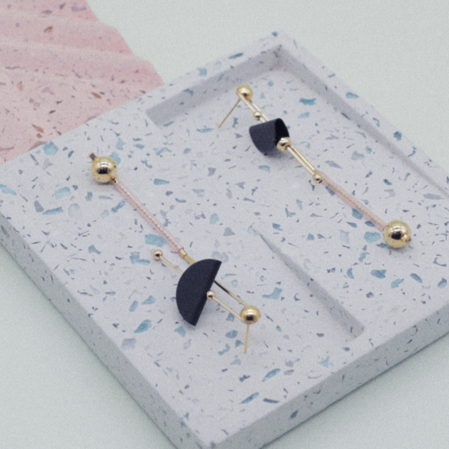 Balance Series - Balance Beam High-Low Drop Earrings - AHED Project