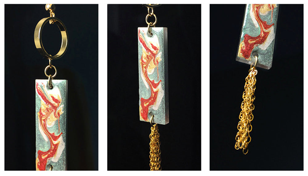 Mogao Cave Murals Inspired Tassel Drop Earrings - AHED Project