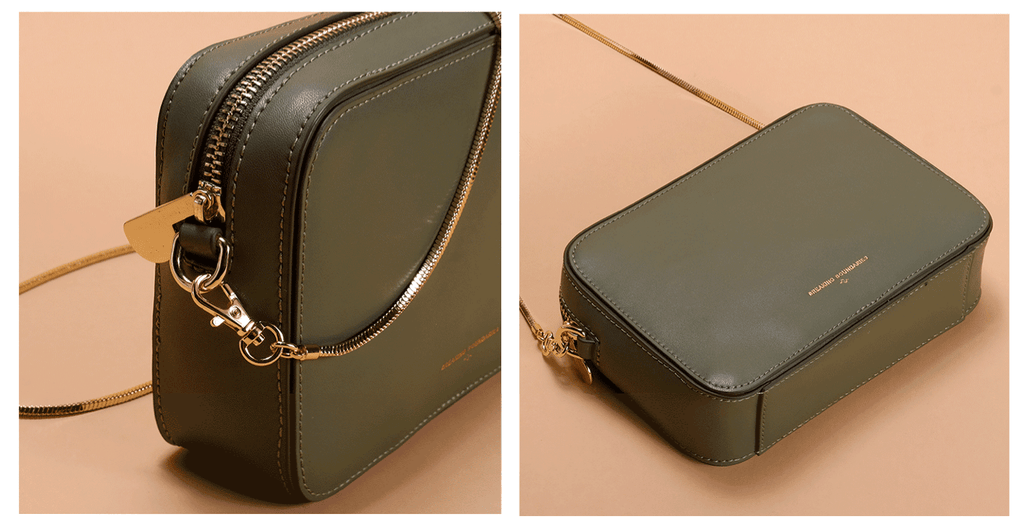 Vintage Style Crossbody Chain Box Bag - 2 Shades