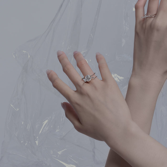 Normcore Architectural Pearl Ring (Quick to ship) - AHED Project
