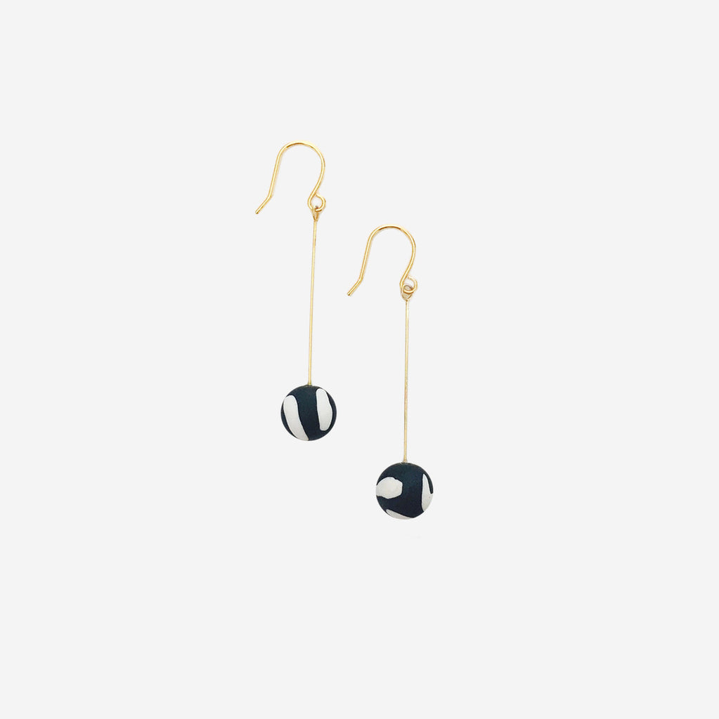 Delicate Clay Ball Drop Earrings - AHED Project
