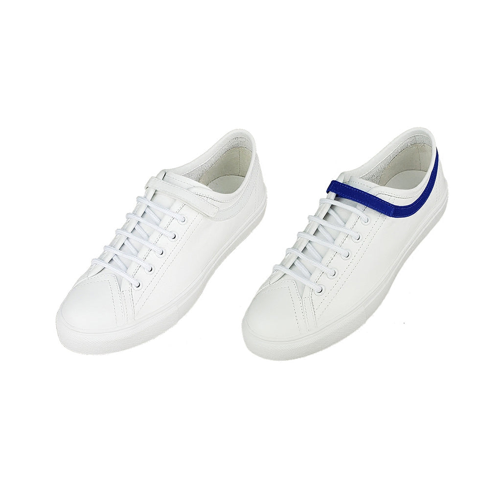 Leather Low-Top Sneakers with Velcro Strap