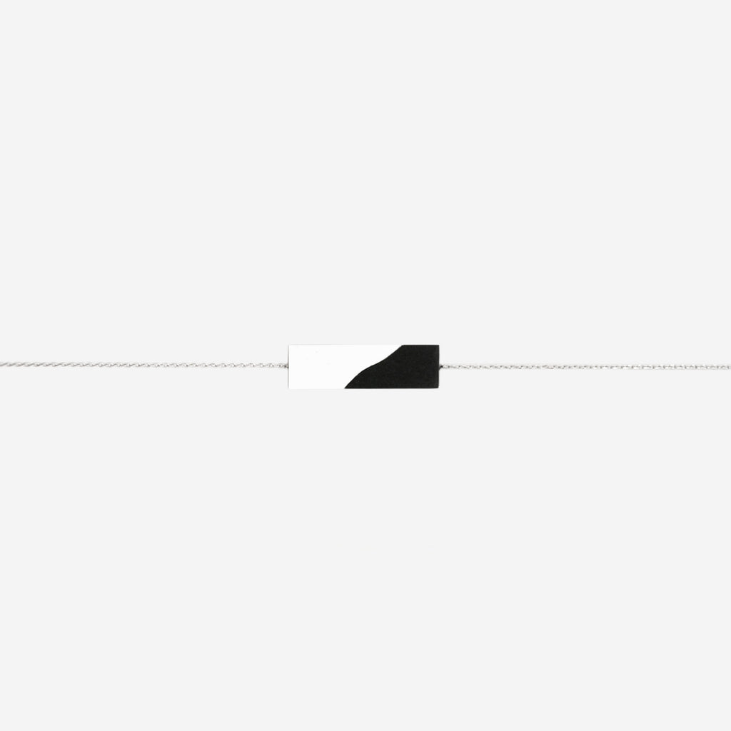 Minimalist Black & White Yin Yang Dainty Necklace (Quick to ship) - AHED Project