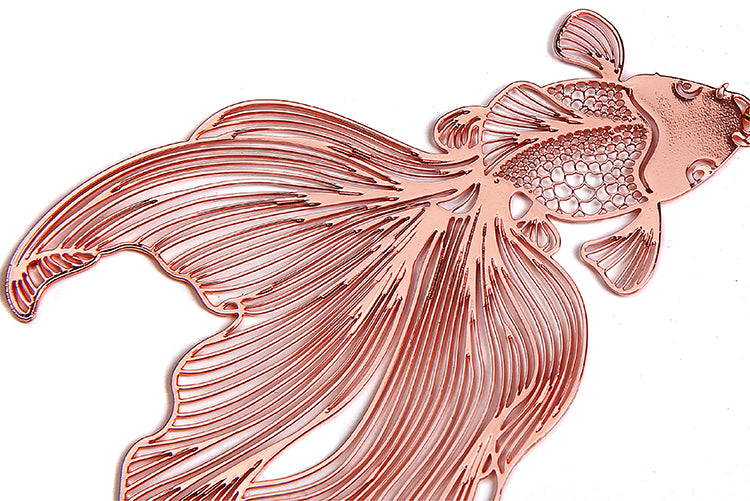 Lively Rose Gold Wandering Goldfish Drop Earrings