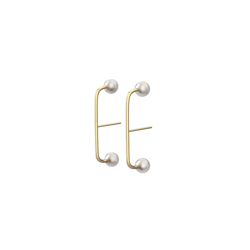 Gemini Inspired 14K Gold Filled Pearl Stud Earrings - AHED Project