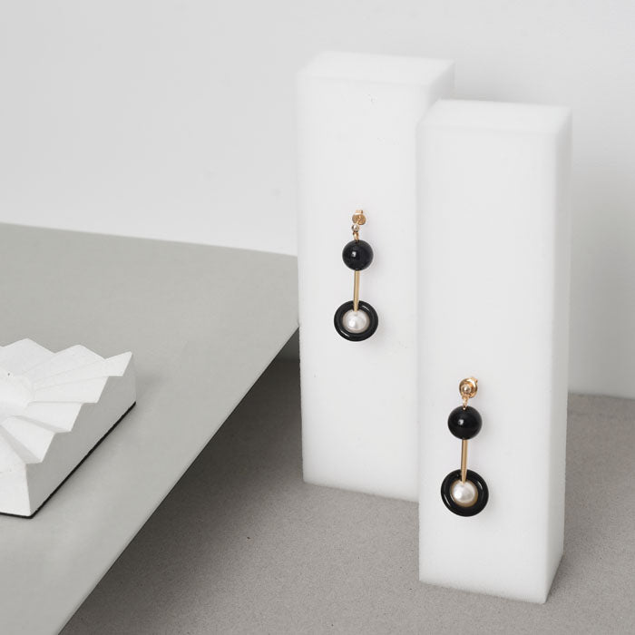 Punctuation Marks Series - Colon Inspired Drop Earrings (Quick to ship) - AHED Project