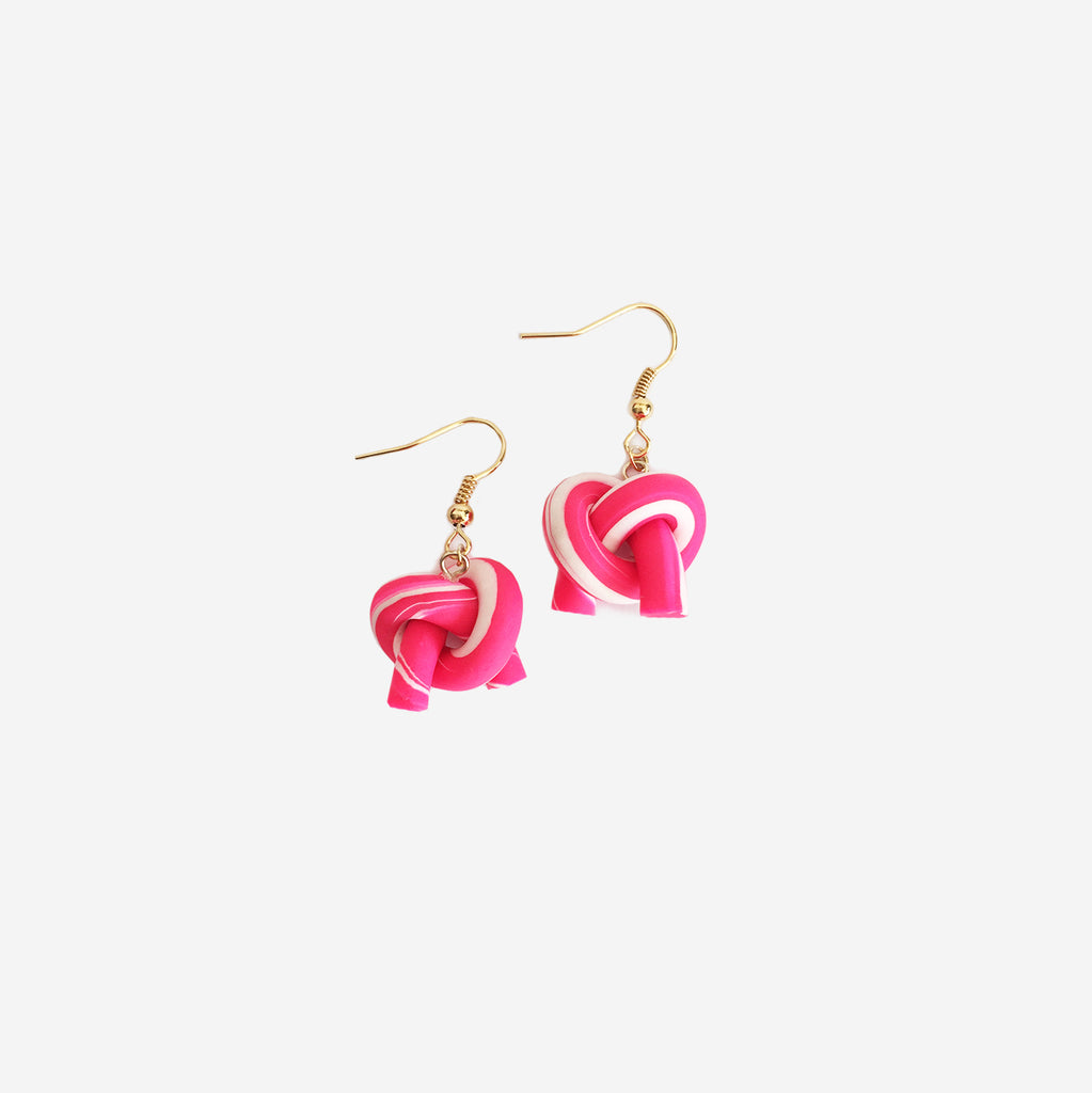 Organically-shaped Twist Knot Earrings (Quick to ship) - AHED Project