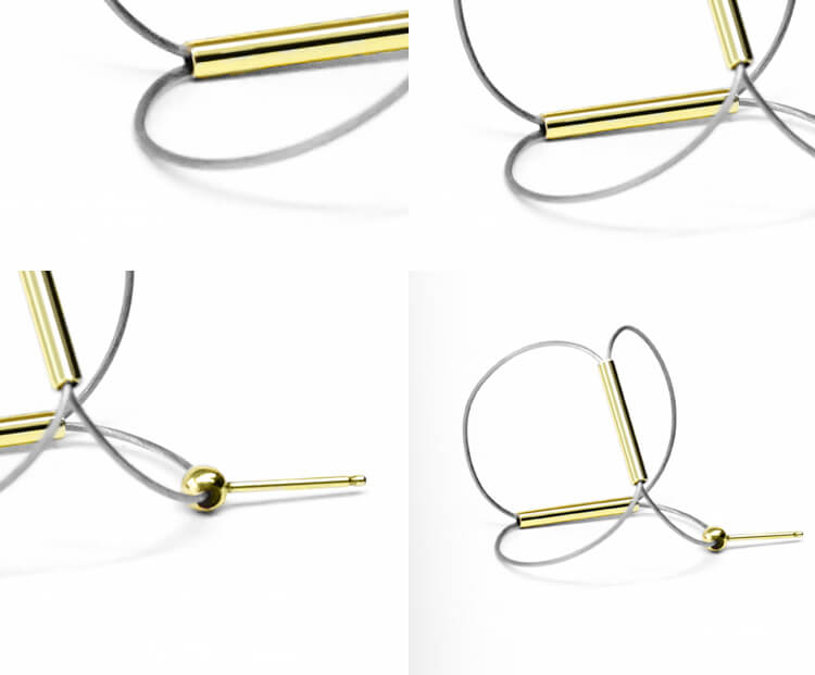 Organic Curved Line-Drawing Earrings (Quick to ship) - AHED Project