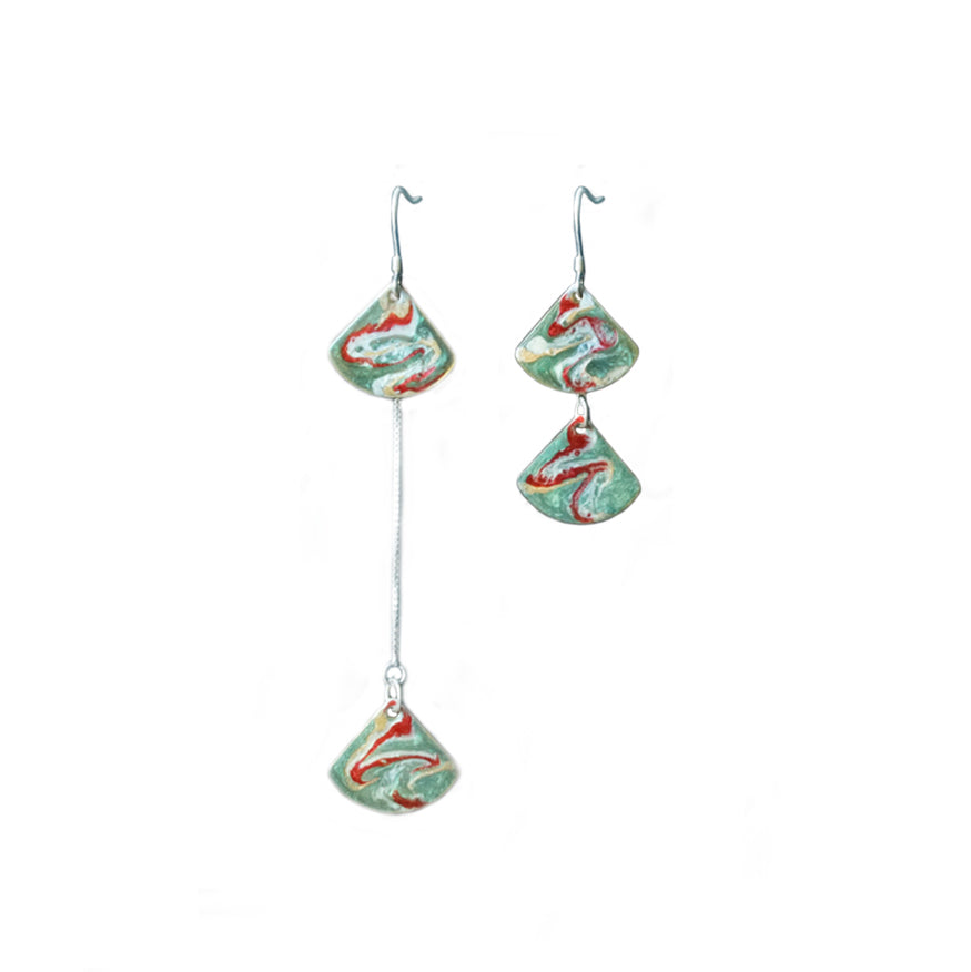 Mogao Cave Murals Inspired Stacked Threader Drop Earring(s) - AHED Project