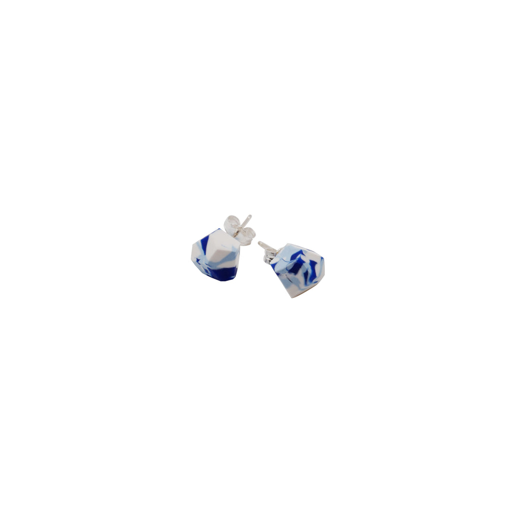 Klein Blue Hand-Cut Clay Studs Earrings (Quick to ship) - AHED Project