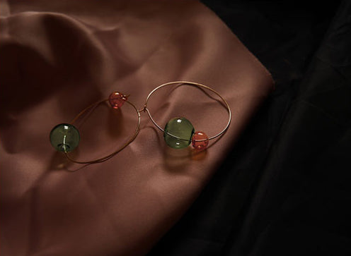 Breeze Dual Color Bubble Hoop Earrings - AHED Project