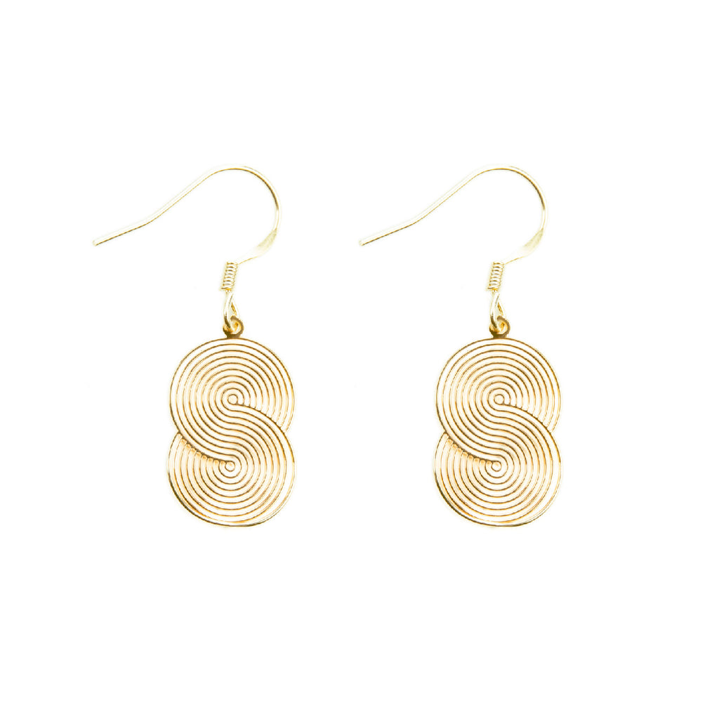 Interweaved Discs Drop Earrings - AHED Project