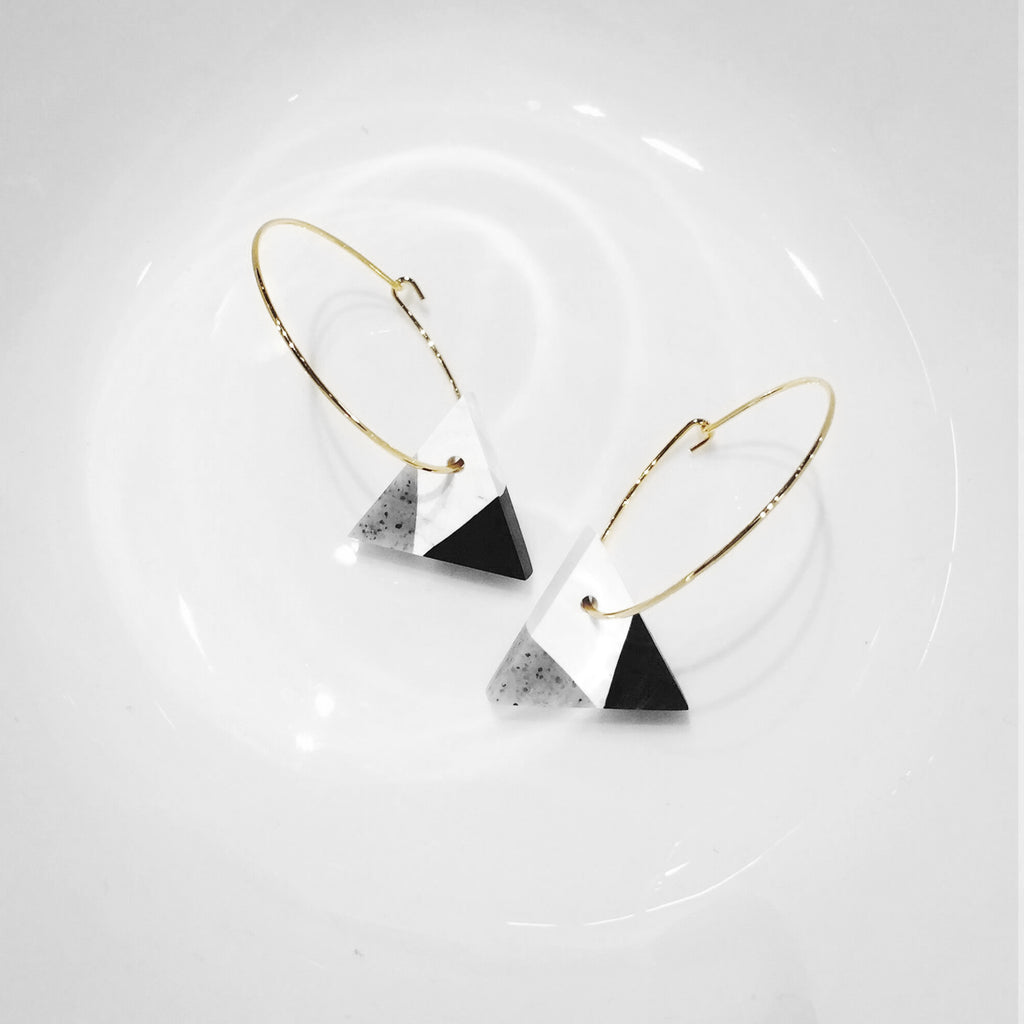 Sesame Cake Drop Hoop Earrings (Pre-order) - AHED Project