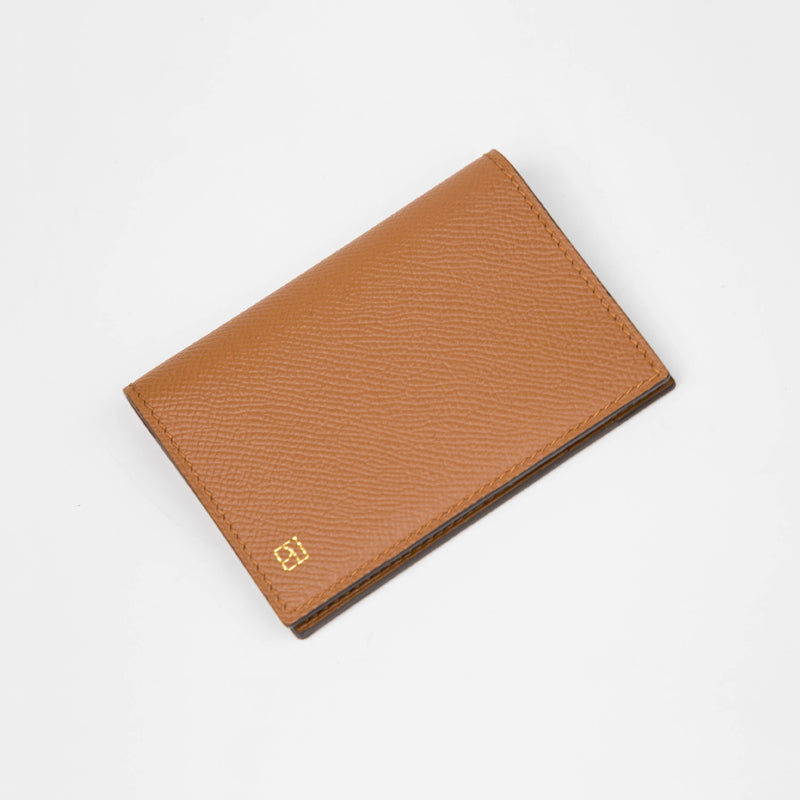 Slim Folding Card Holder - Luxurious Epsom & Sully Leather