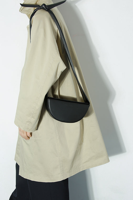 Leather Half-Moon Shoulder Knot Crossbody Bag - AHED Project
