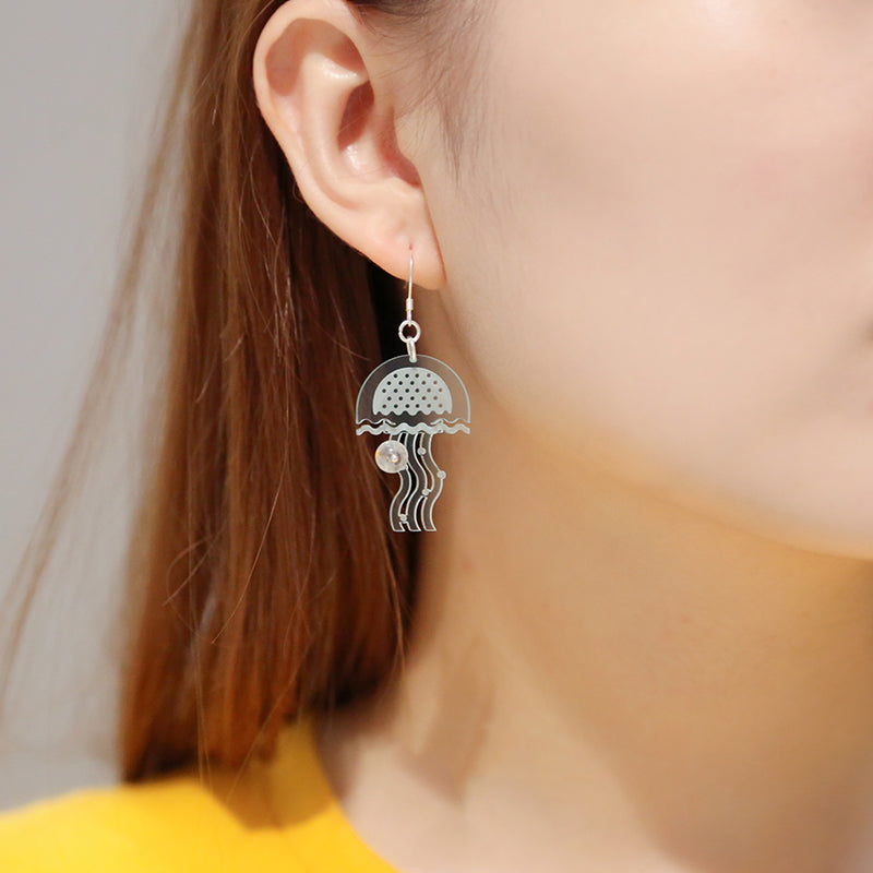 Sea World  Series - Jellyfish Drop Earrings - AHED Project