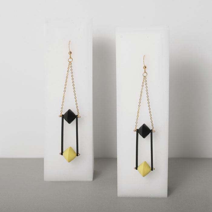 Punctuation Marks Series - Equal Sign Inspired Drop Earrings (Quick to ship) - AHED Project