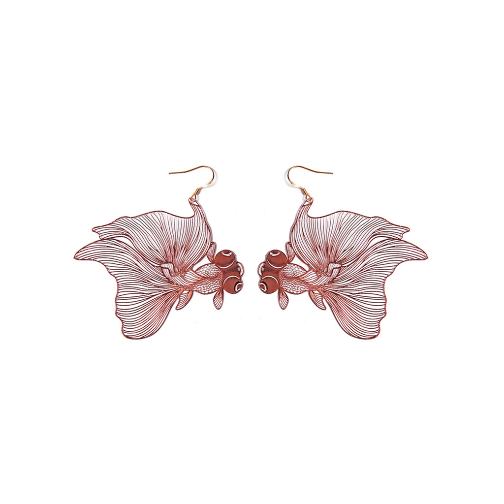 Dragon Eye Goldfish Drop Earrings - AHED Project