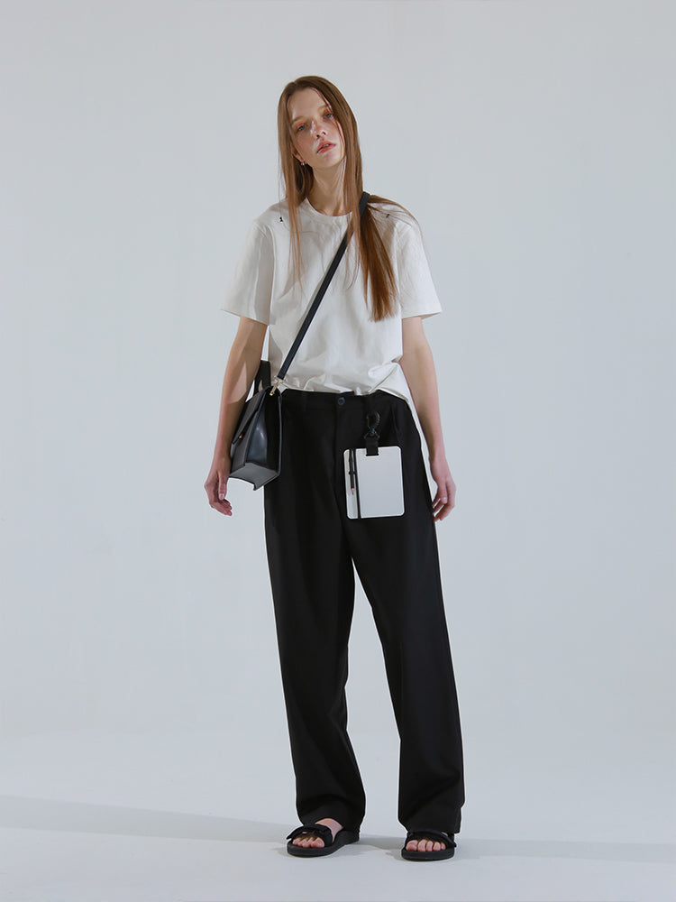 Flap Satchel Top Handle Crossbody Bag