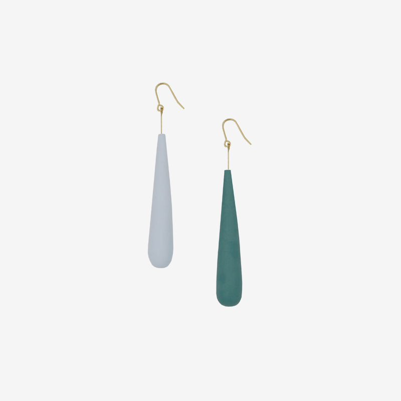Muted Color Teardrop Clay Drop Earrings (Quick to ship)