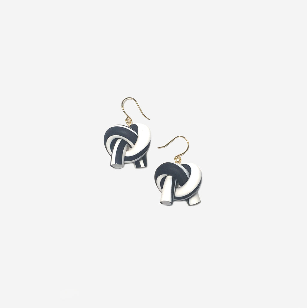Organically-shaped Twist Knot Earrings (Quick to ship)