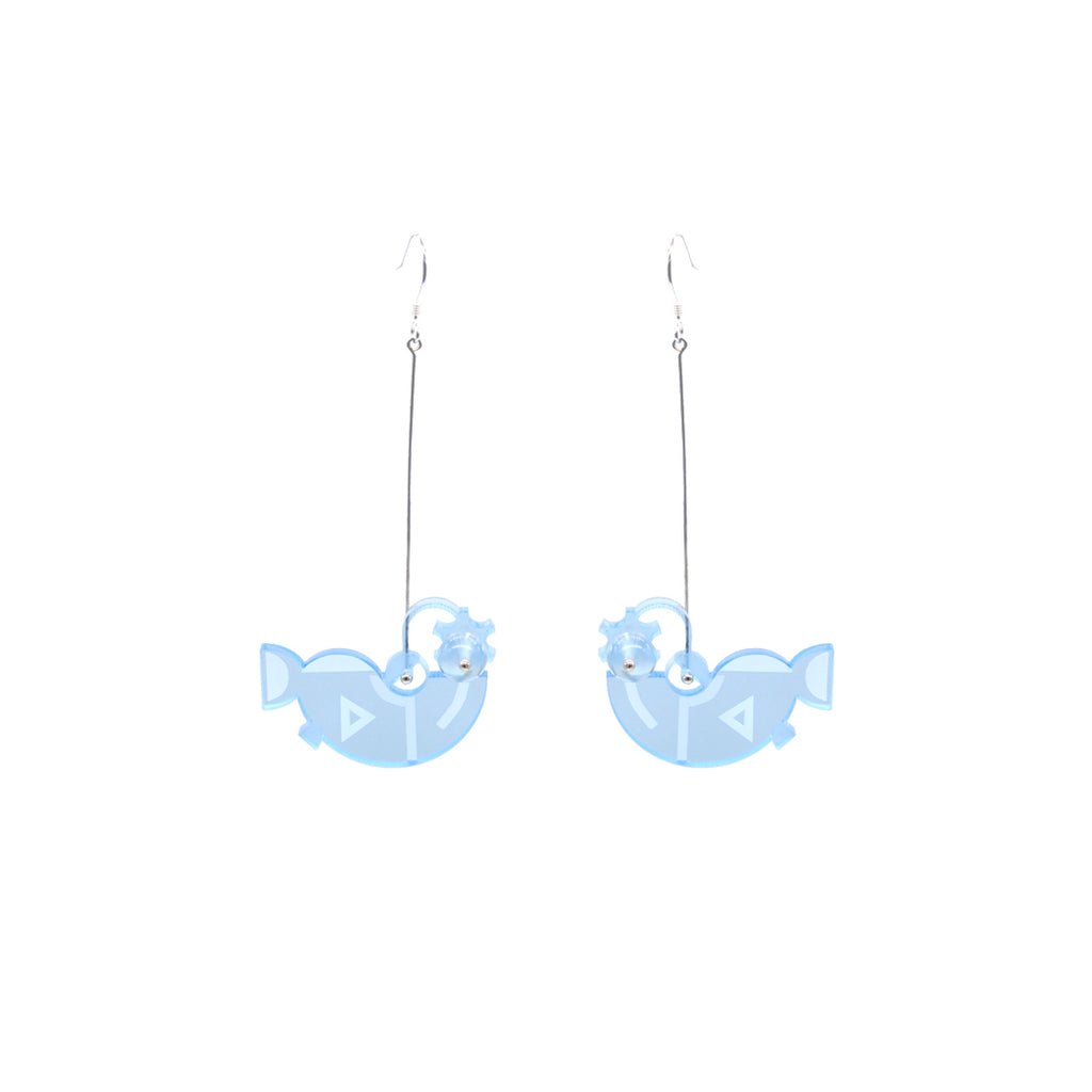 Sea World  Series - Lantern Fish Drop Earrings - AHED Project