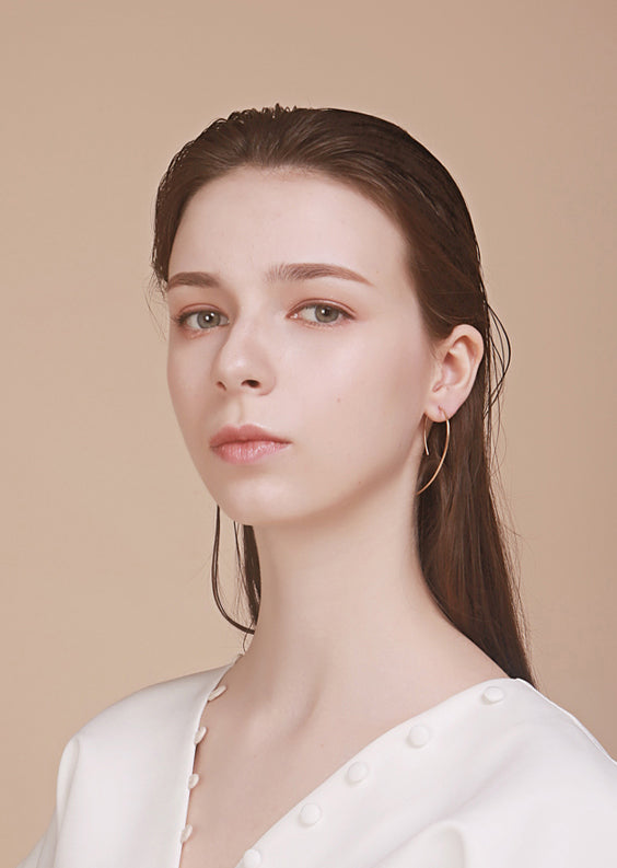 Delicate 14K Gold Filled Arch Hoop Earrings - AHED Project