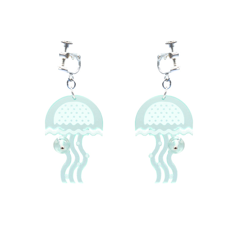 Sea World  Series - Jellyfish Drop Earrings