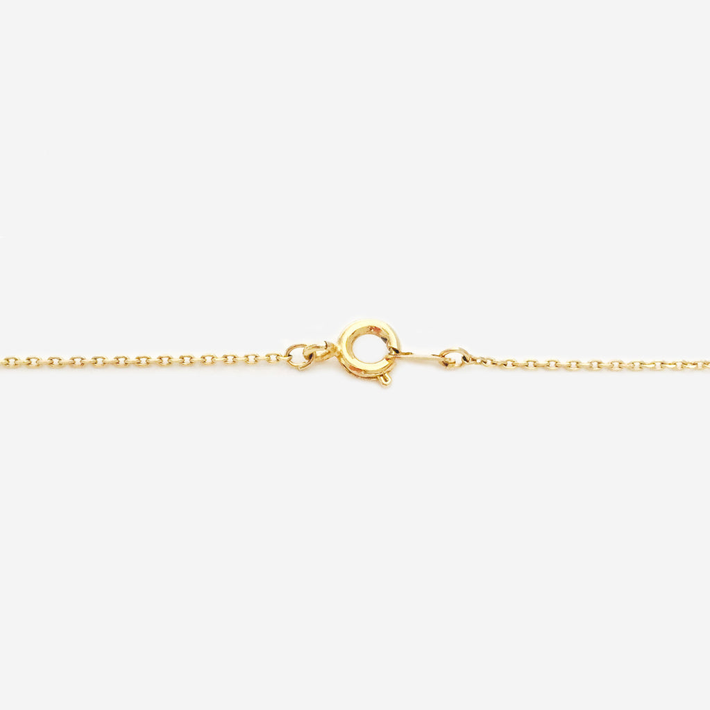 Hand-Cut Clay Cube 18K Gold Plated Dainty Necklace (Pre-order)
