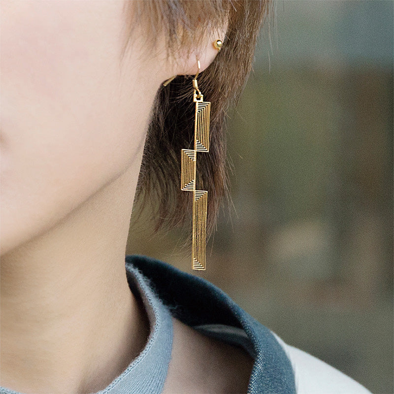 Irregular Bar Shape Drop Earrings - AHED Project