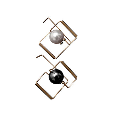 Architectural  Black & White Earrings - AHED Project