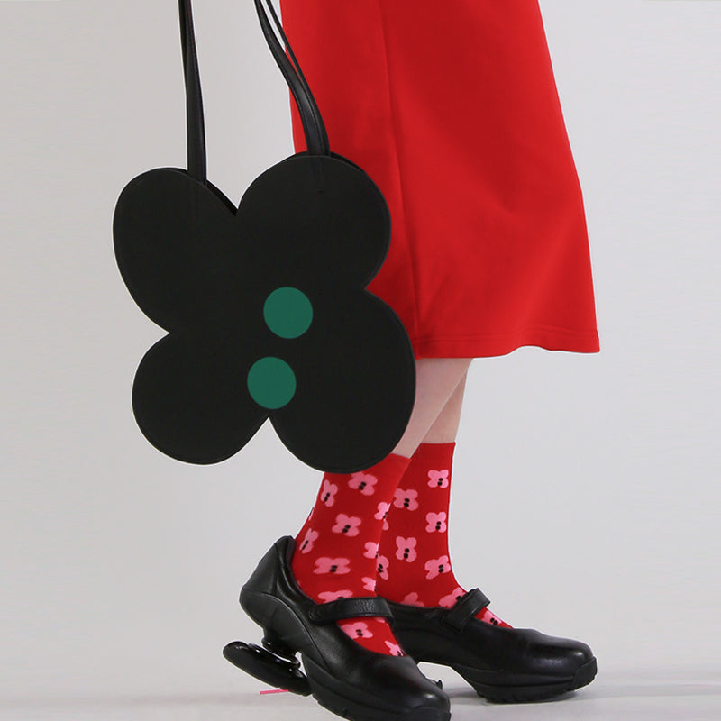 Playful Flowery Polka Dot Shoulder Bag - AHED Project